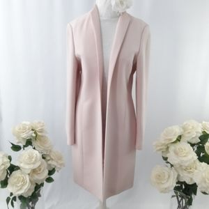 Blush Pink Long Open Coat
